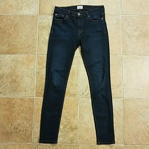 Hudson Made in USA Dark Rinse Skinny Jeans S 28
